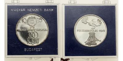 200 forint Felszabadulás 1975 PP
