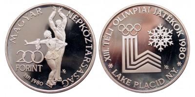 200 forint Lake Placid piefort 1980 PP