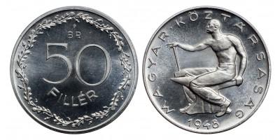 50 Fillér 1948 UV