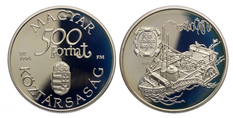 500 Forint Régi Dunai Hajók 1994