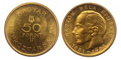Bartók Béla 50 forint 1961