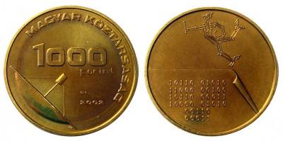 1000 forint üzenet érme 2002 BU