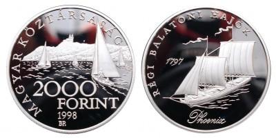 2000 Forint régi Balatoni hajók 1998 PP