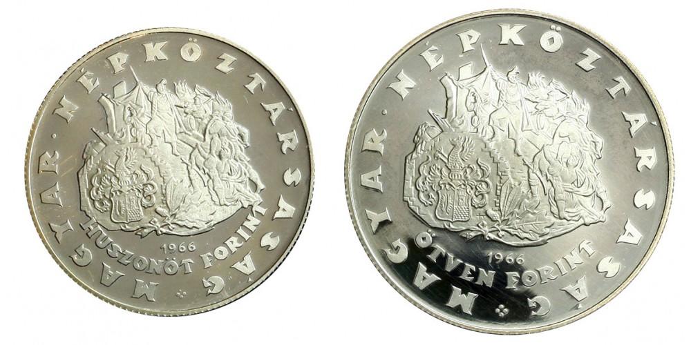 Zrínyi 25-50 forint 1966 Proof