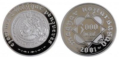 3000 Forint 1000 éves a magyar pénzverés 2001 PP