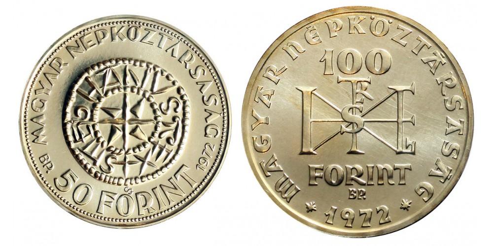 Szent István 50-100 forint 1972 BU