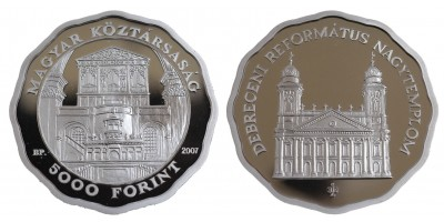 5000 Forint Debreceni Református Nagytemplom 2007 PP