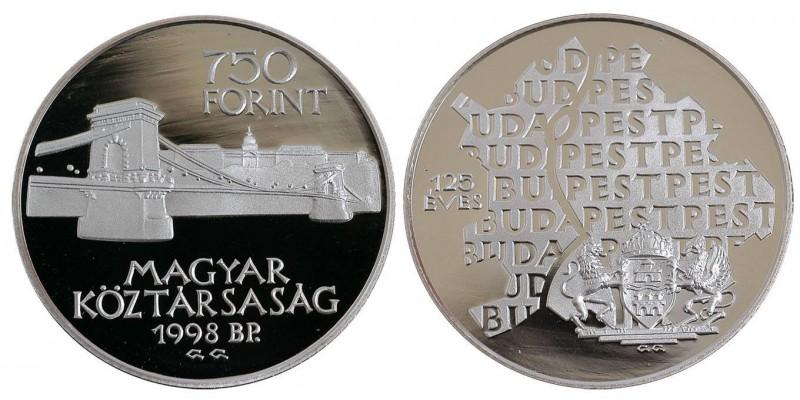 750 forint Budapest egyesítése 1998 PP