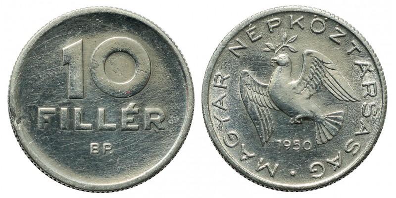 10 Fillér 1950 utánveret