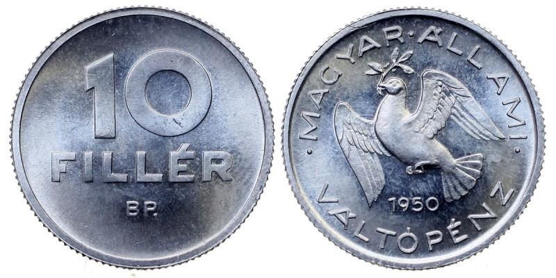 10 fillér 1950 Magyar Állami Váltópénz