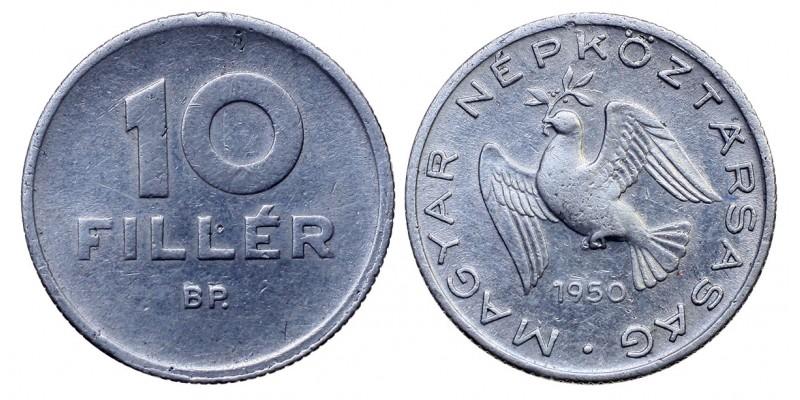 Magyar Népköztársaság 10 fillér 1950