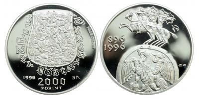 2000 Forint Honfoglalás 1996 PP próbaveret