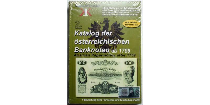 Osztrák bankjegy katalógus 1759-től
