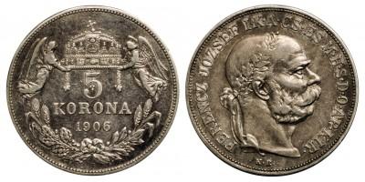 Ferenc József 5 korona 1906 RR!