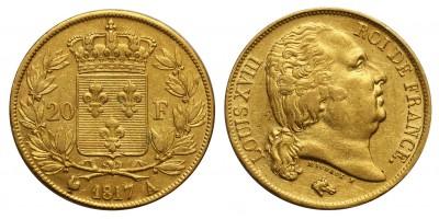 Franciaország 20 Francs 1817 A