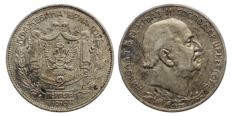Montenegro 2 perpera 1910
