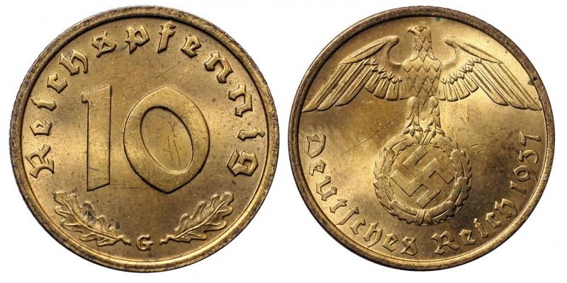 Németország 10 Reichspfennig,1937 G