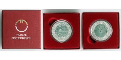 Ausztria 25 EURO 2013 ezüst/nióbium Tunnelbau