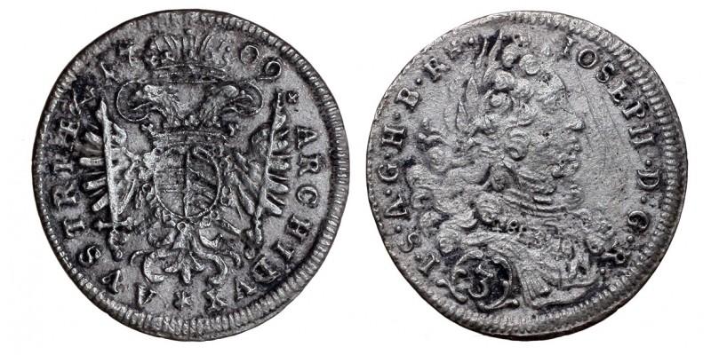 I.József Bajorország 3 krajcár 1709