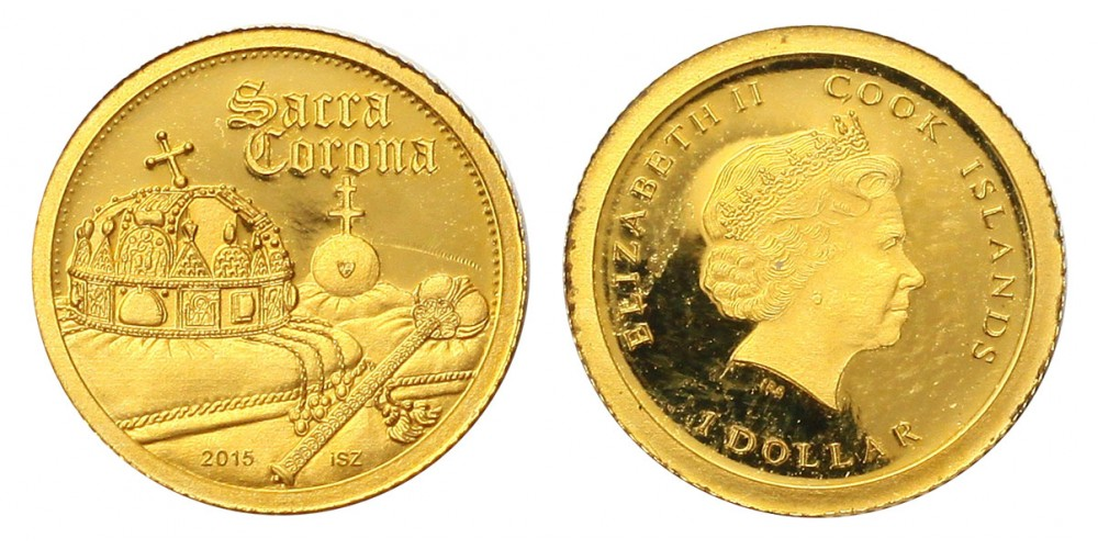 Cook-szigetek dollár 2015 PP sacra corona