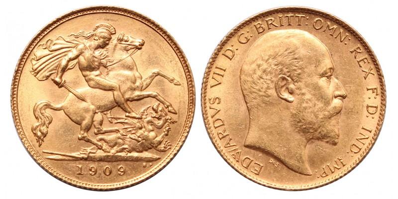 Nagy Britannia VII.Edward 1/2 sovereign 1909