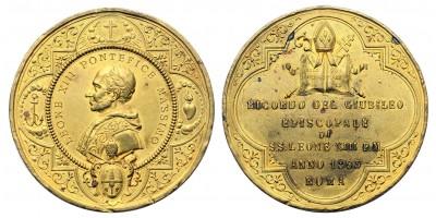 Vatikán XIII. Leó 50. jubileuma 1893 emlékérem