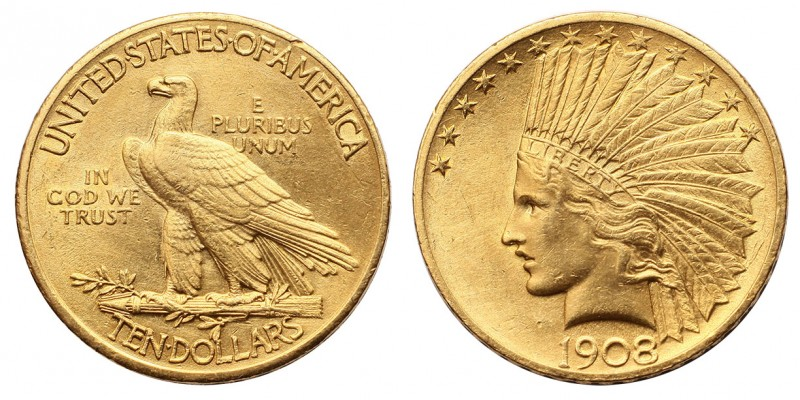 USA indiánfejes 10 dollár 1908