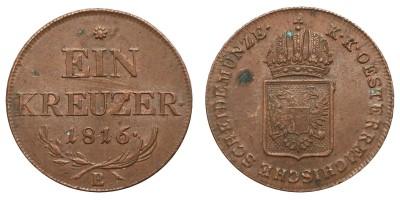 Ausztria Ein kreuzer 1816 B