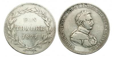 Hessen-Kassel II.Wilmos tallér 1821