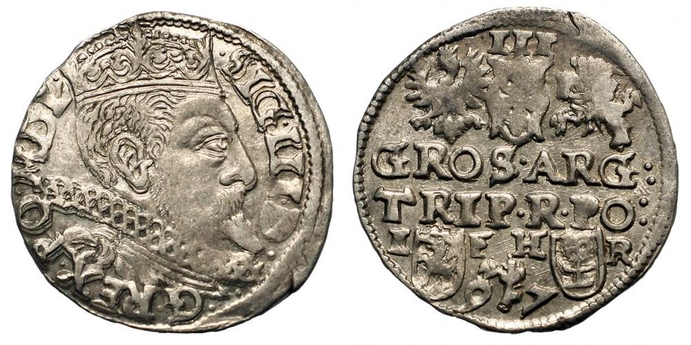 Lengyelország 3 groszy 1597 Posen R!