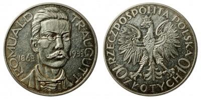 Lengyelország 10 zlotych 1933 Romuald Traugutt.