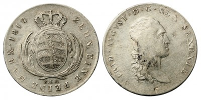 Szászország tallér 1812 SGH
