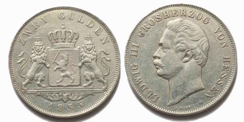 Németország Hessen 2 gulden 1855