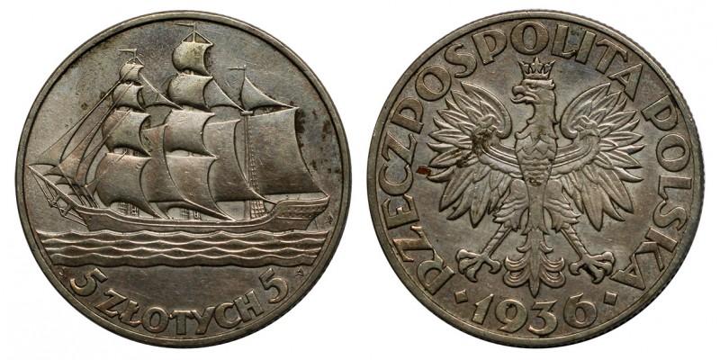 Lengyelország Dar Pomorza 5 zloty 1936