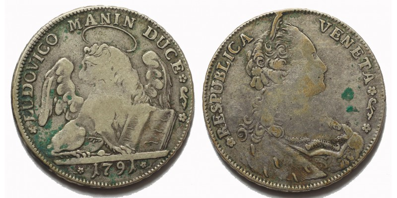 Velence Ludovico Manin tallér 1791