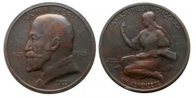 Jókai Mór születésének 100. évfordulójára emlékérem 1925