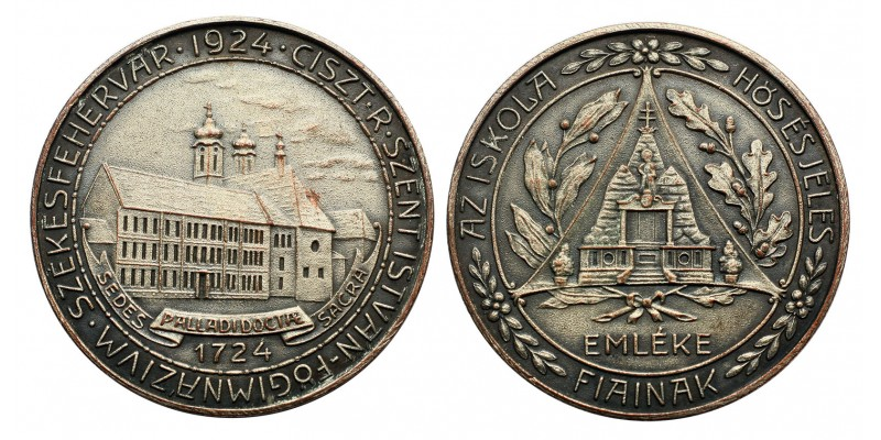Ciszterci Szent István Főgimnázium Székesfehérvár emlékérem 1924