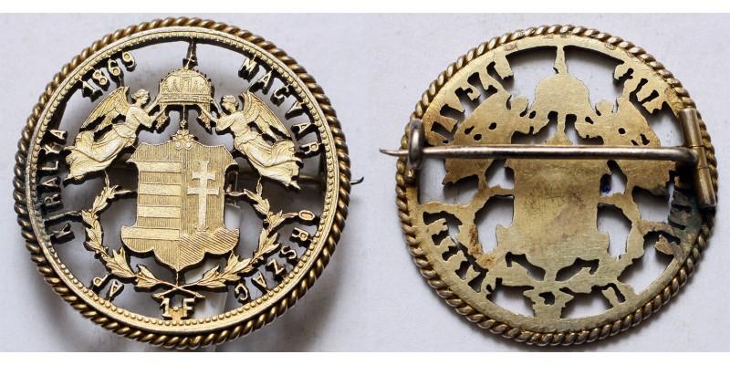 Ferenc József 1 forint 1869 patrióta bross