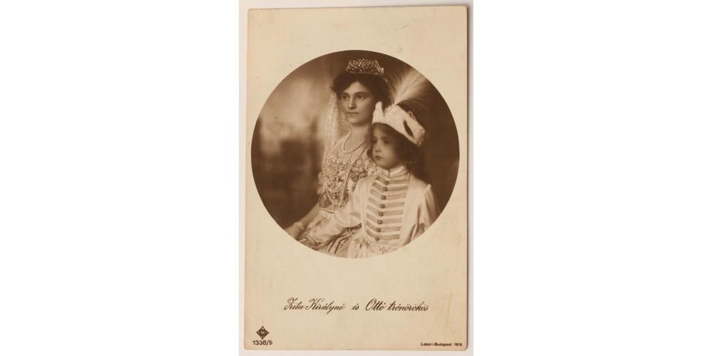 Zita királyné és Ottó trónörökös képeslap