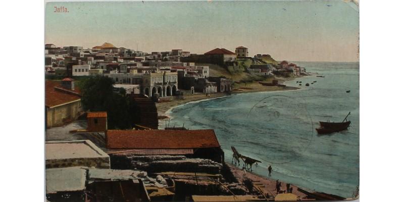 Képeslap a Szigetvár hajóról küldve Jaffából 1914