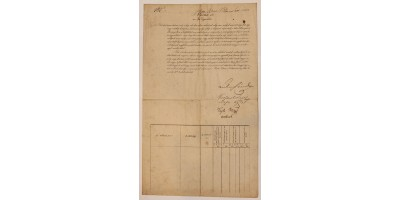 Okirat Kossuth Lajos aláírásával 1841