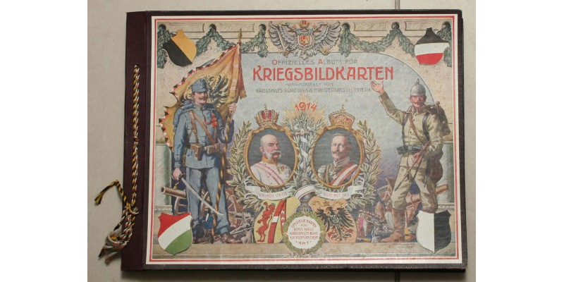 I. Világháború Hadsegélyező propaganda képeslap album 1914