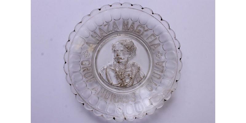 Gróf  Andrássy Gyula emléktányér 19. század