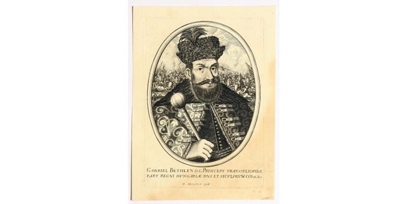 Bethlen Gábor portréja rézmetszet, B. Moncornet