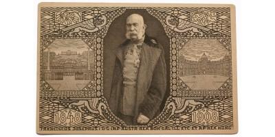 Emlék képeslap Ferenc József 60. uralkodási jubileuma 1908