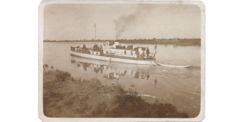 """MFTR Hortobágy motoros hajó ex """"D"""" őrnaszád fotó 1935 körül"""