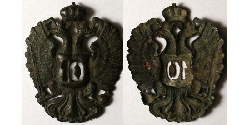 Császári és Királyi 10. huszárezred csákó címer R!