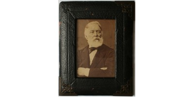 Kossuth Lajos portréja, eredeti fotó 1880 körül