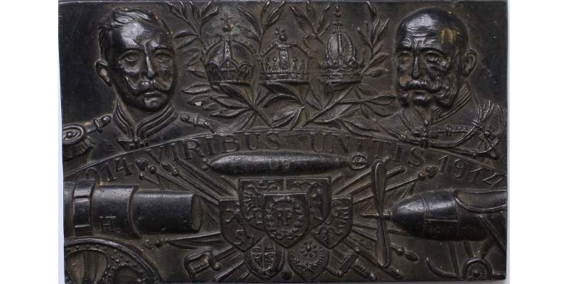 Patrióta plakett az U9 osztrák-magyar tengeralattjáróval 1914