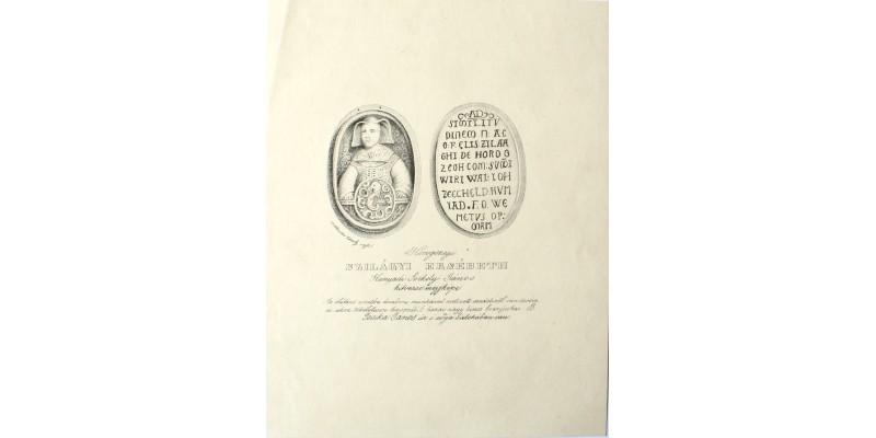 Szilágyi Erzsébet portréja 19. század R!